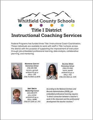 Title I Instructional Coaches Flyer